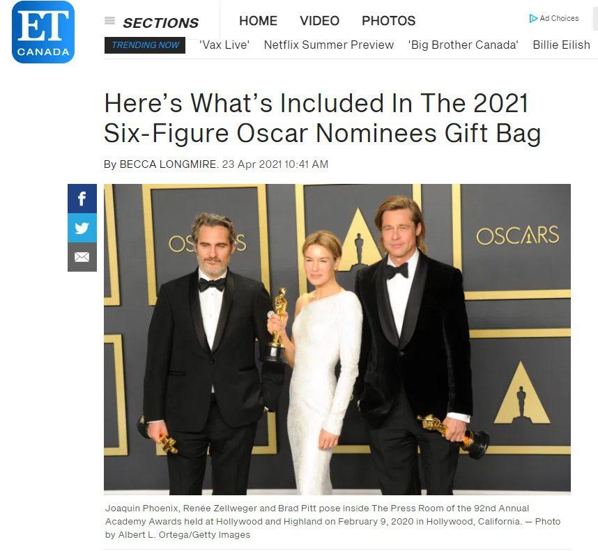 ET Canada - Oscars Gift Bag