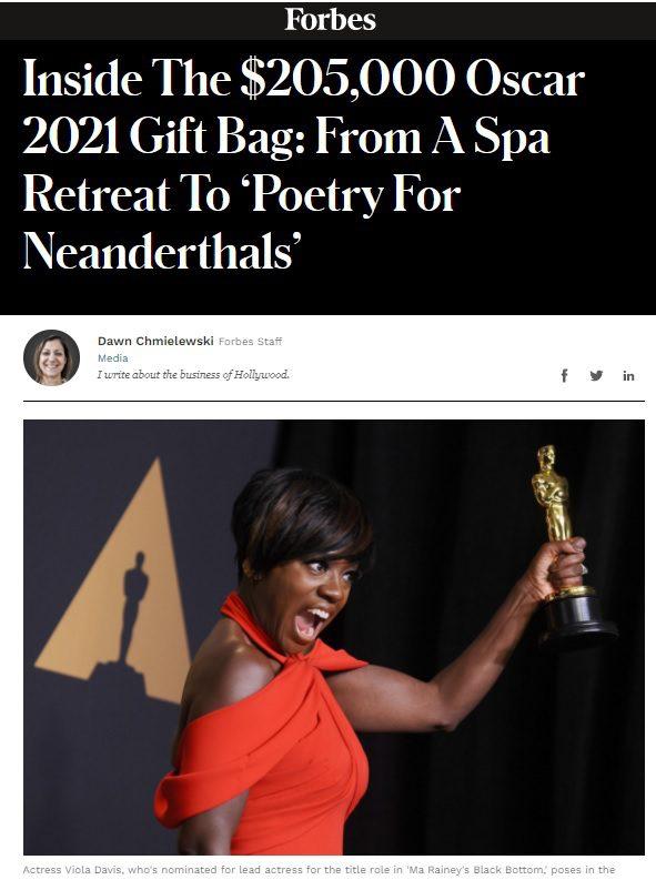 Forbes Oscars 2021 Article - Artlipo.com Gift