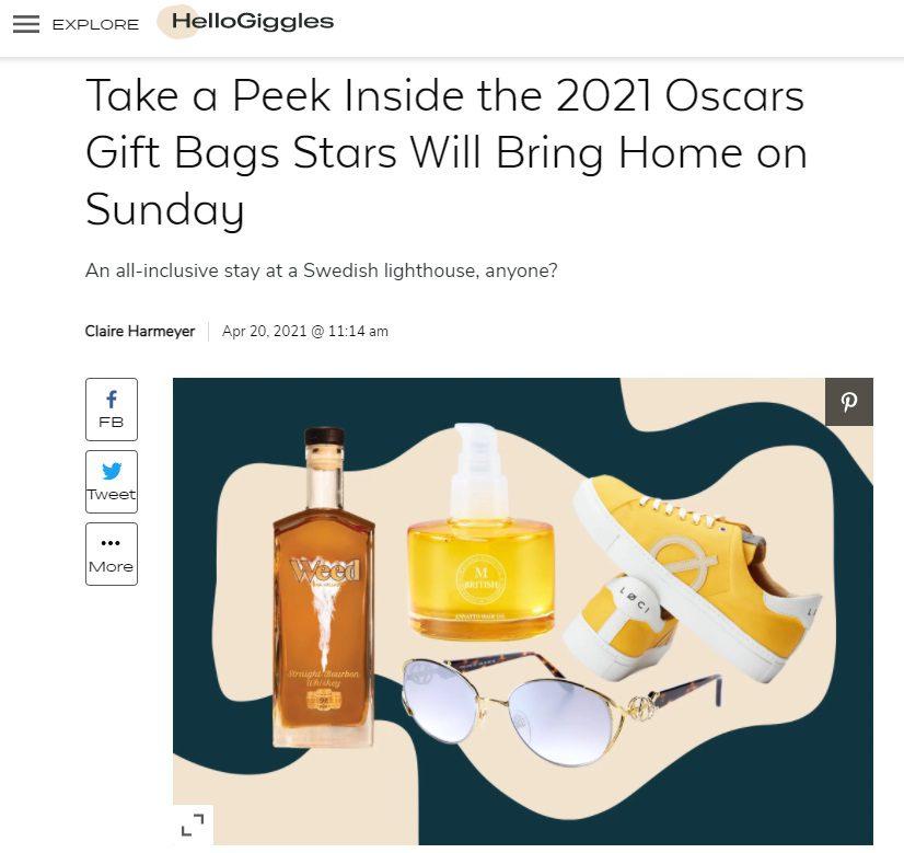 HelloGiggle 2021 Oscars Gift Bag (arm sculpting gift)