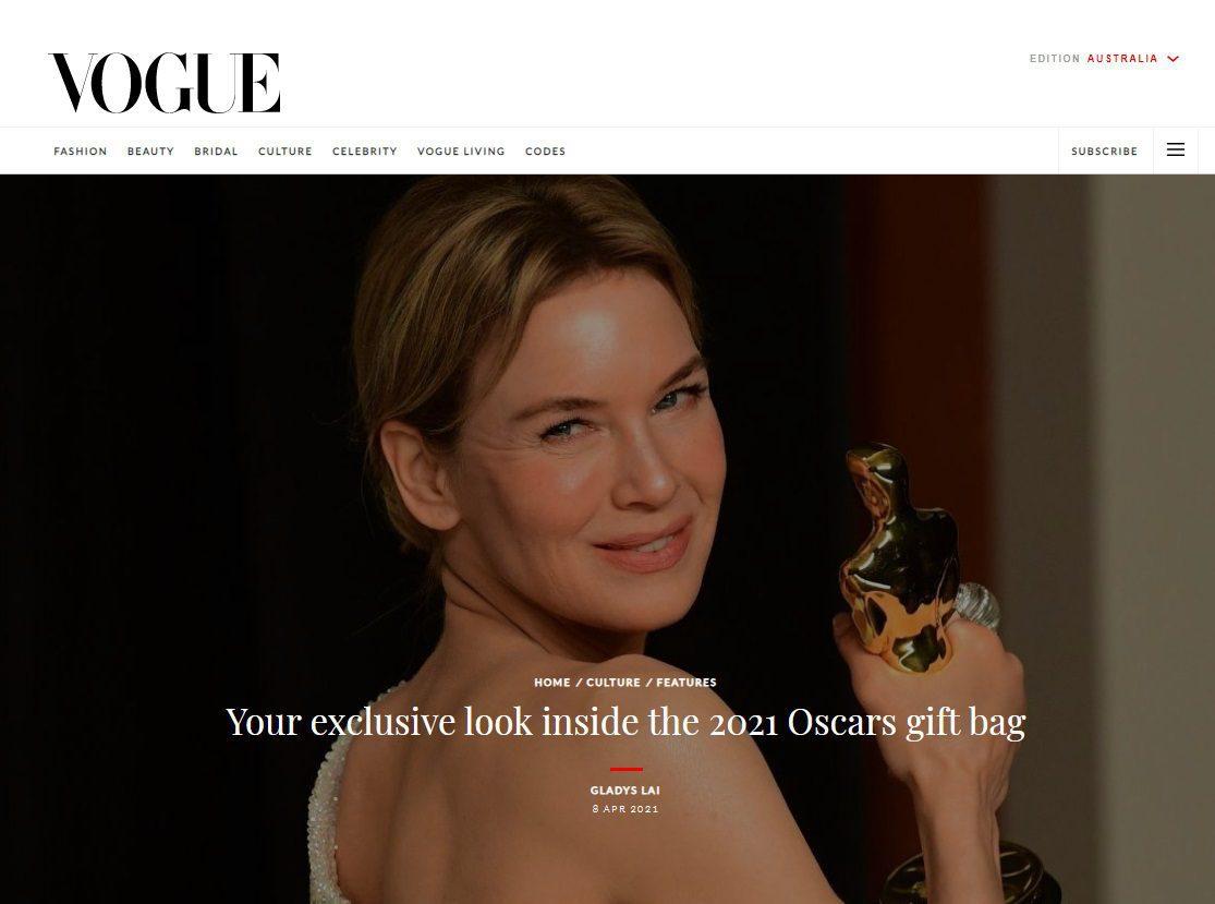 Vogue Oscars 2021 Gift Bag - Arm liposuction Gift